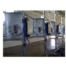 Доильный зал размером 2x13 с поточным счетчиком молока